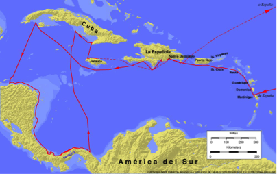 Christopher Columbus - The first voyage | Britannica.com